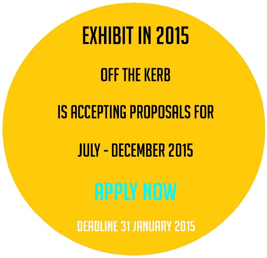 apply to exhibit at Off the Kerb